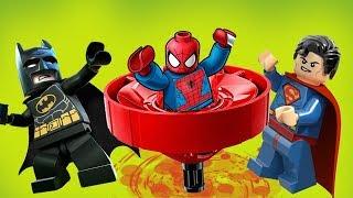 Новая крутая игра с Кружитцу! Лего Человек паук, Бэтмен и Супермен. Мультики про Супергероев 2018