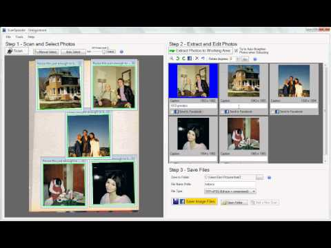 Scan Multiple Photos at Once - Auto Detection (Old Interface)