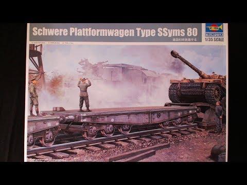 TRUMPETER 1/35 Scale Schwere  Plattformwagen Type SSyms 88
