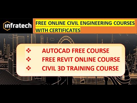 Civil Engineering Free Online Courses With Certificate || Free Autocad Training