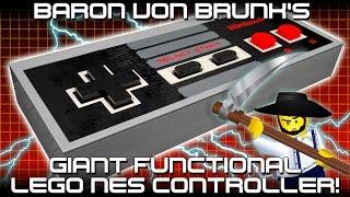 Baron von Brunk's Giant Functional LEGO NES Controller