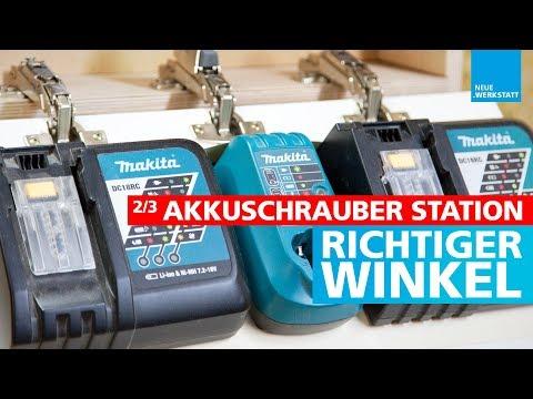 (2/3) Akkuschrauber Halter selber bauen / alle Typen geeignet / Akkus, Ladegeräte, Akkutacker