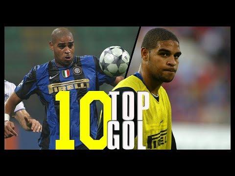 I 10 Gol più belli di Adriano con la maglia dell'Inter