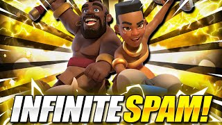 INFINITE RIDER SPAM!! BRAND NEW DOUBLE RIDER DECK in Clash Royale!