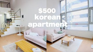 Korea Apartment Tour - $500 Loft Apartment