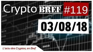 cryptobref #119 - 03/08/18 - l'actu des crypto-monnaies en bref