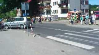 preview picture of video 'XX Bałtyk-Karkonosze 2012 - Łęknica - przejazd peletonu'