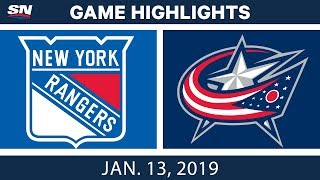 NHL Highlights | Rangers vs. Blue Jackets - Jan. 13, 2019