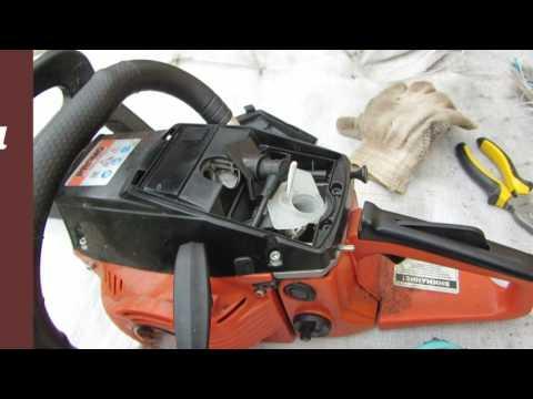 Бензопила CARVER - проблемы с пуском и ремонт .