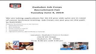 Gadsden Career Center Job Corps Recruitment Fair