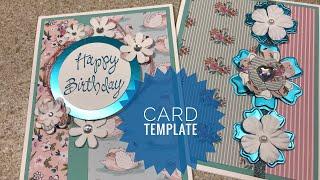 Card Template | Card Sketch | #1 In Series