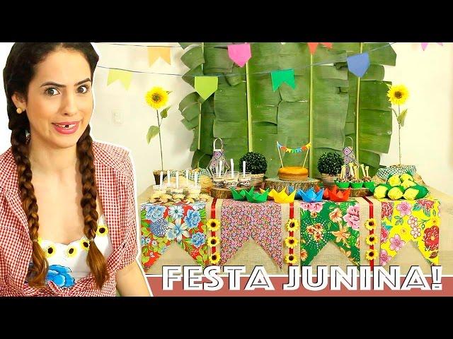 Dicas Para Decorar Mesa De Festa Junina Cantinho Do Video