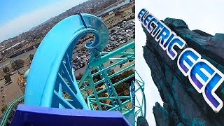 Riding Electric Eel New Roller Coaster at SeaWorld San Diego! Front Seat POV & Rider Cam