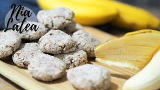 Schnelle Bananen-Kokos-Kekse I aus nur 2 Zutaten I Glutenfrei und Zuckerfrei I Vegan