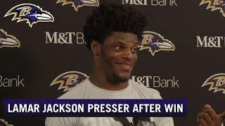 Lamar Jackson Full Press Conference After Dominant Victory | Baltimore Ravens