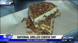 KXLY Broadcasts from Meltz on Nat'l Grilled Cheese Day