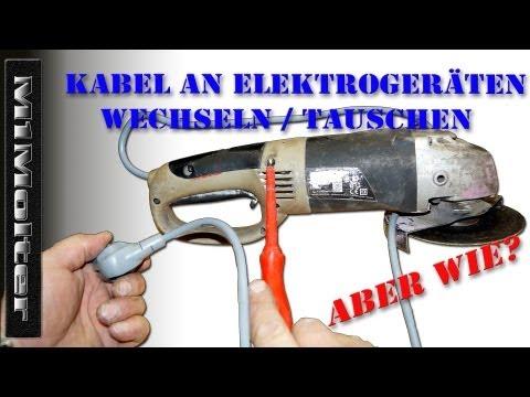 Kabel an Elektrogeräten wechseln / tauschen von M1Molter