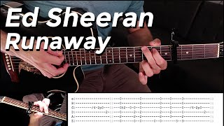 Ed Sheeran - Runaway (Guitar Lesson) by Shawn Parrotte