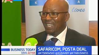 Posta partners with Safaricom,an agreement that will see phone numbers becoming one's postal address