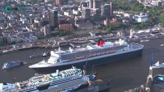 Die Queen Mary 2 in Hamburg