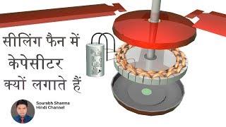 Why capacitor used in fan?  सीलिंग फैन में केपेसीटर क्यों लगाते हैं ?