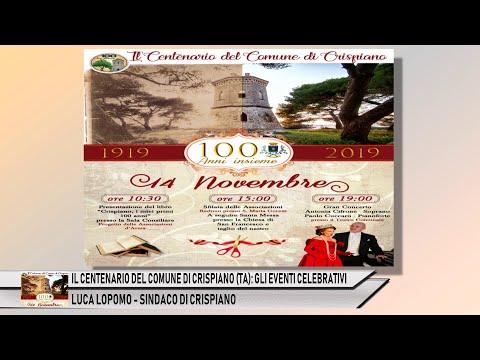 IL CENTENARIO DEL COMUNE DI CRISPIANO (TA): ECCO GLI EVENTI CELEBRATIVI