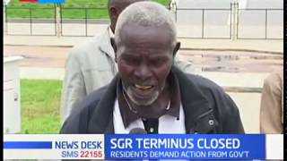 SGR terninus closed as bad roads block access to the facility