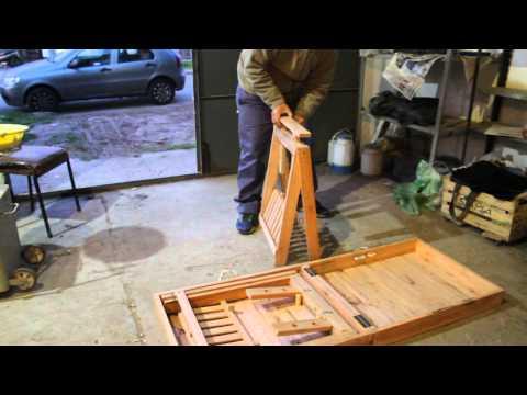 caballetes valija - puesto de feria valija - mesa plegable con cablletes