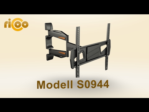 RICOO® | S0944 | TV Wandhalterung Schwenkbar Neigbar | LCD LED Monitore | Curved