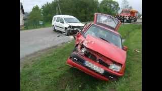 Wypadek drogowy w Chorkówce obok Urzędu Gminy