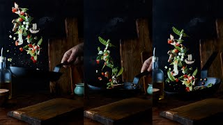 How To Easily Make FLYING FOOD PHOTOS IN CAMERA