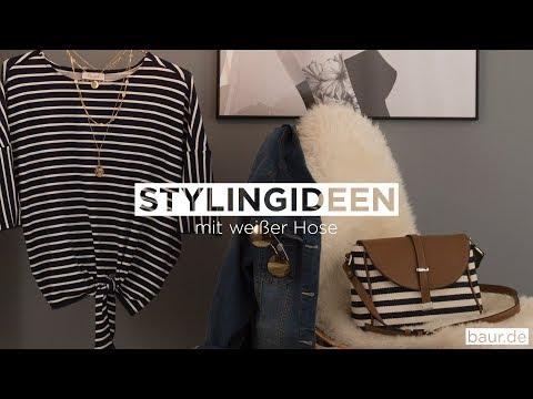Weiße Hose Stylingideen Stripes | BAUR