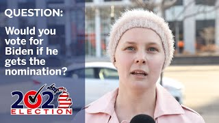 Bernie Sanders supporters talk about whether they would vote for Biden if he wins the nomination