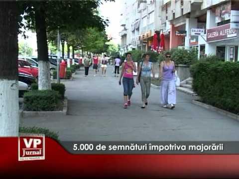 5.000 de semnături împotriva majorării taxelor