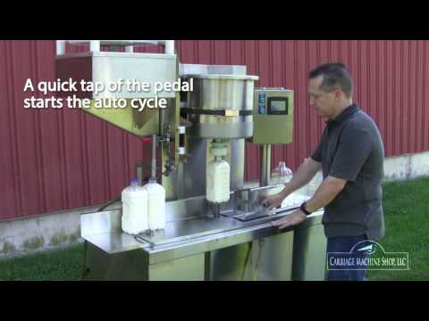 Automatic Bottle Filler Capper with Auto-Cycle Feature. - Automatic Bottle Filler Capper - sold by Bob-White Systems