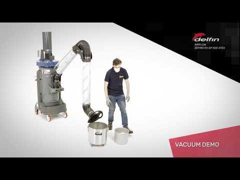 Delfin Xtractor 75 AF Vacuum Cleaner For Fine Dust Sanction In Floor Preparation Operation