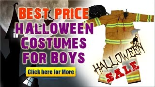 New Boy Halloween Costumes Review - Amazing Fireman - Firefighter Kids Halloween Costume!