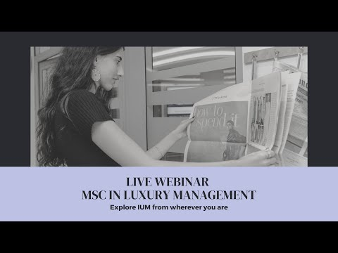Live Webinar MSc in Luxury Management 2021 02 06