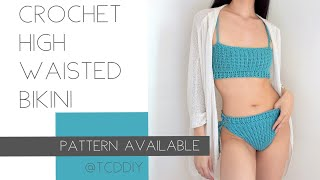 Crochet High Waisted Bikini | Tutorial DIY