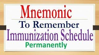 Mnemonic on Immunisation schedule