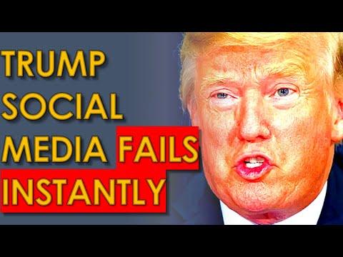 Donald Trump NEW Social Media FAILS IMMEDIATELY
