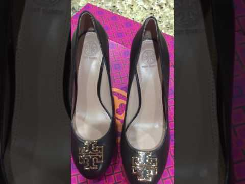 #Toryburchshoes Tory Burch black Melinda wedge closed toe heel review