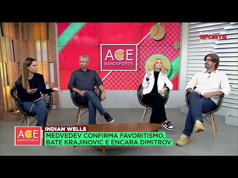 COMENTARISTAS ANALISAM VITÓRIA DE DANIIL MEDVEDEV EM INDIAN WELLS| ACE BANDSPORTS