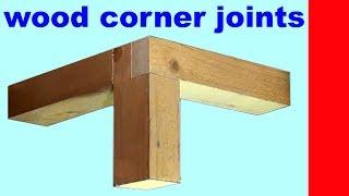 wood corner joints / eine Holzkonstuktion als gesägte 3 fach Holzverbindung für Tisch und Regale