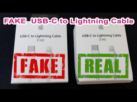 Fake Apple USB C To Lightning Cable iPhone X Fast Charging