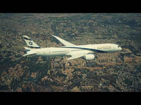 """המטוס """"ירושלים של זהב"""" בטיסה בשמי הארץ ושיחה מיוחדת עם נשיא המדינה"""