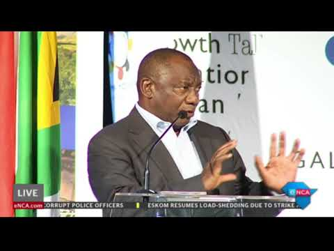 Ramaphosa speaks at Inclusive Growth Conference