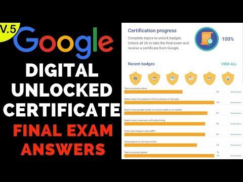 Google Digital Unlocked Certificate Final Exam Answers - 2019 - 5th ...
