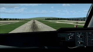 preview picture of video 'FS2004 - Cockpit landing MD11 at LSZH rwy 28'