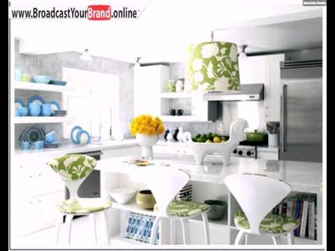 Weiß Grüne Küche Lampe Stühle